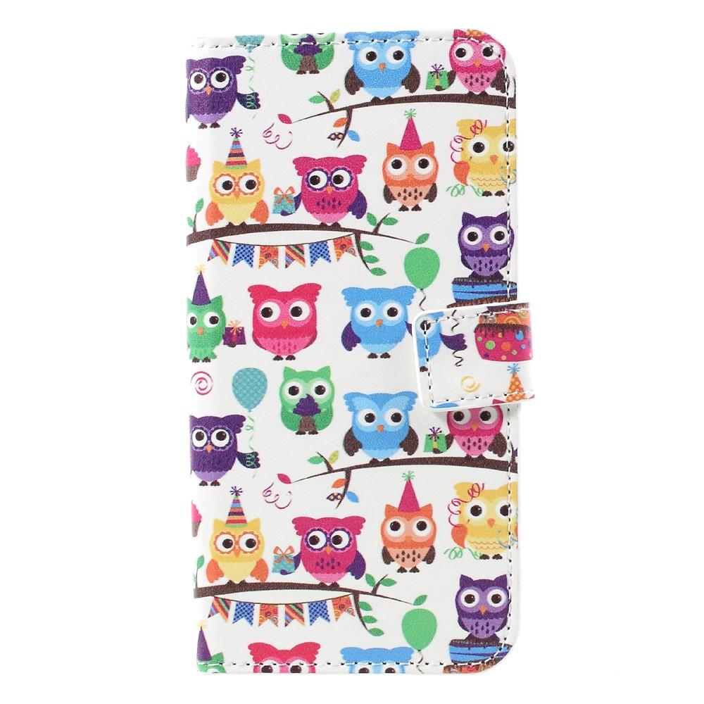 Image of   Samsung Galaxy S8 PU læder Flipcover m. Kortholder - Little Owls
