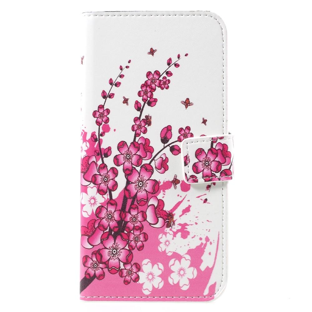 Image of   Samsung Galaxy S8 PU læder Flipcover m. Kortholder - Plum Blossom