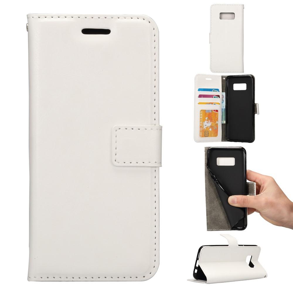 Image of   Samsung Galaxy S8 PU læder Flipcover m. Kortholder - Hvid