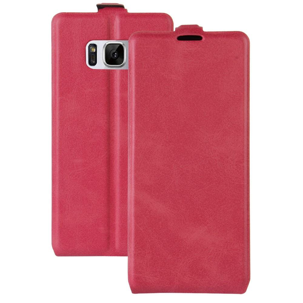 Image of   Samsung Galaxy S8 Vertikal Flipcover m. Fotoholder - Rosa