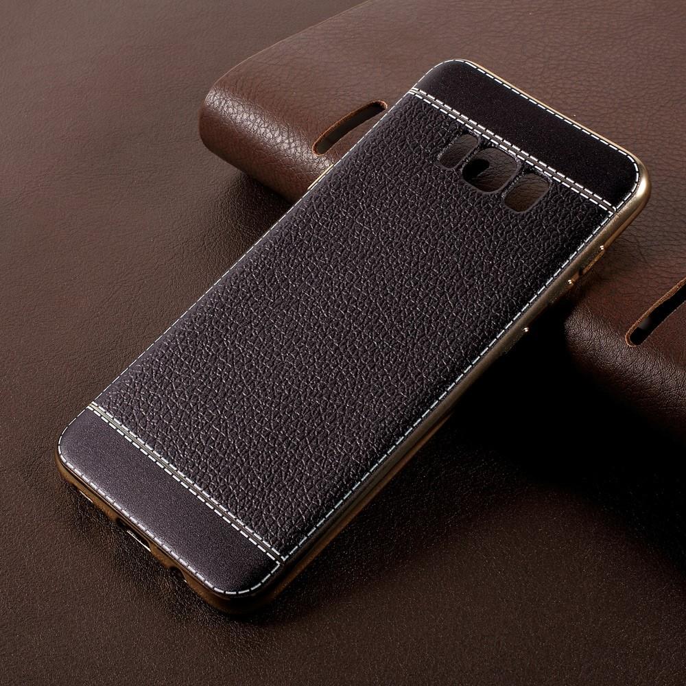 Image of   Samsung Galaxy S8 Plus TPU Cover m. PU læder - Sort