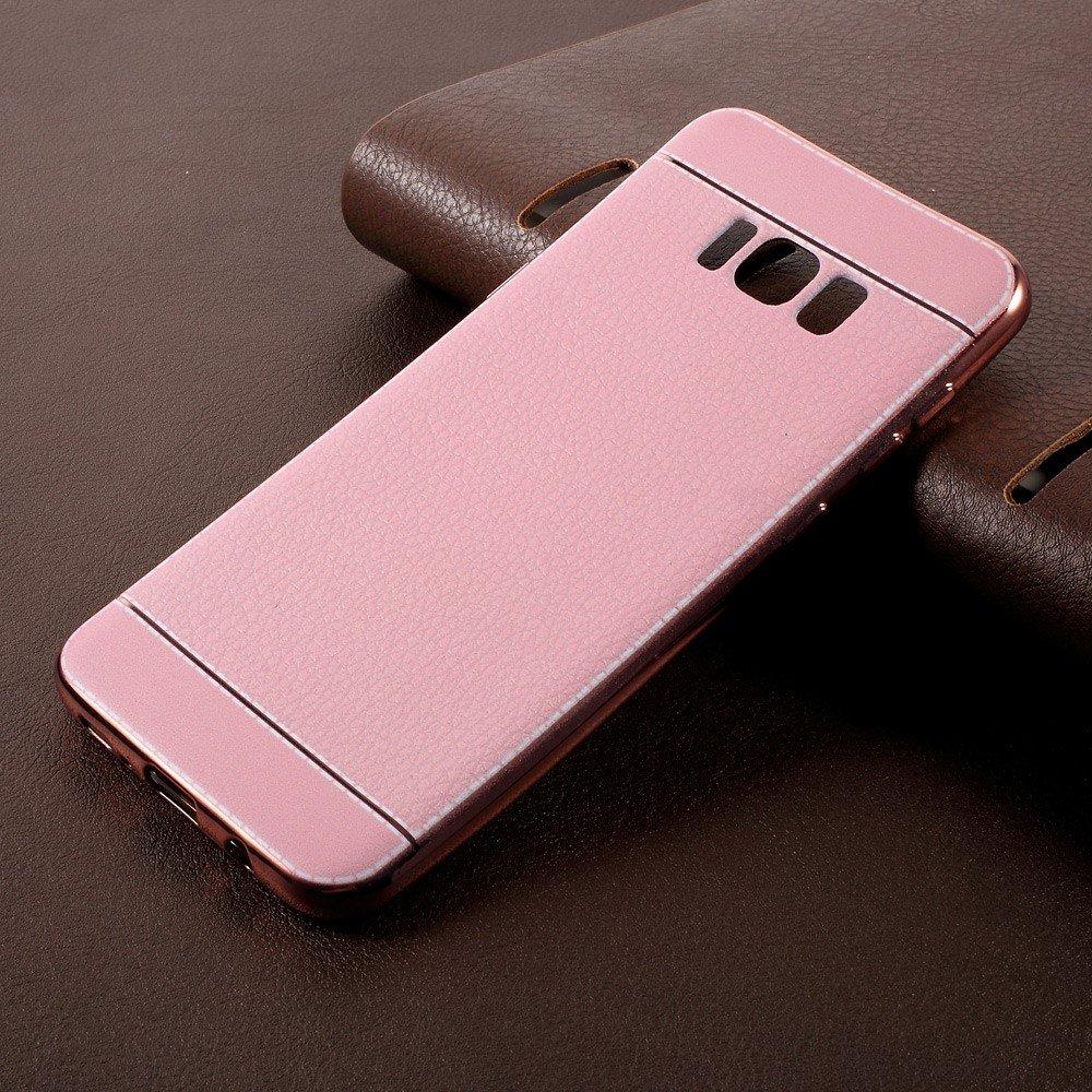 Image of   Samsung Galaxy S8 Plus TPU Cover m. PU læder - Lyserød