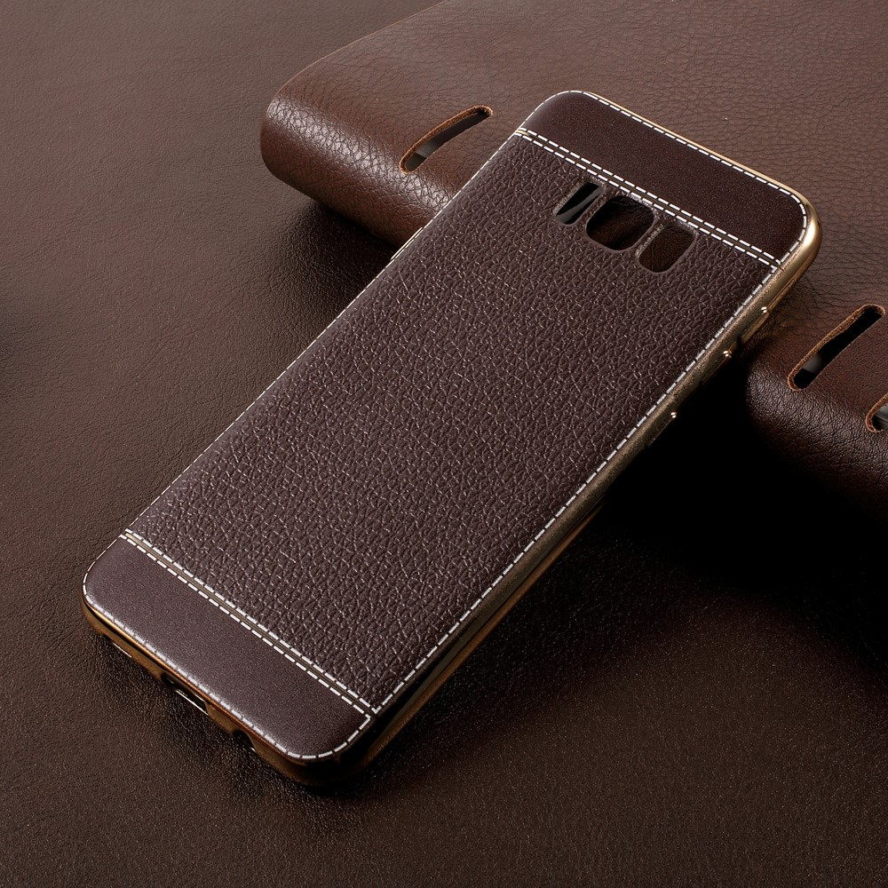 Image of   Samsung Galaxy S8 Plus TPU Cover m. PU læder - Coffee