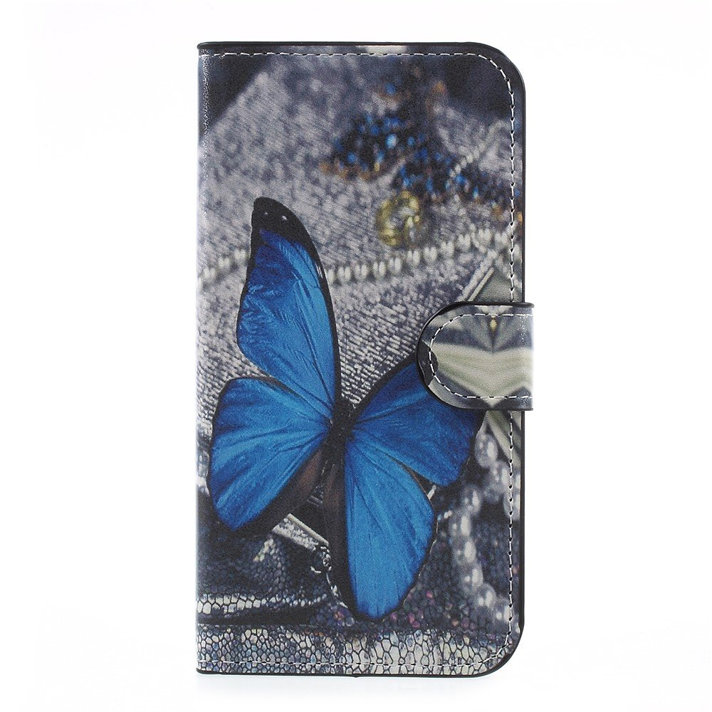 Billede af Samsung Galaxy J5 (2017) PU læder Flipcover M. Kortholder - Blue Butterfly