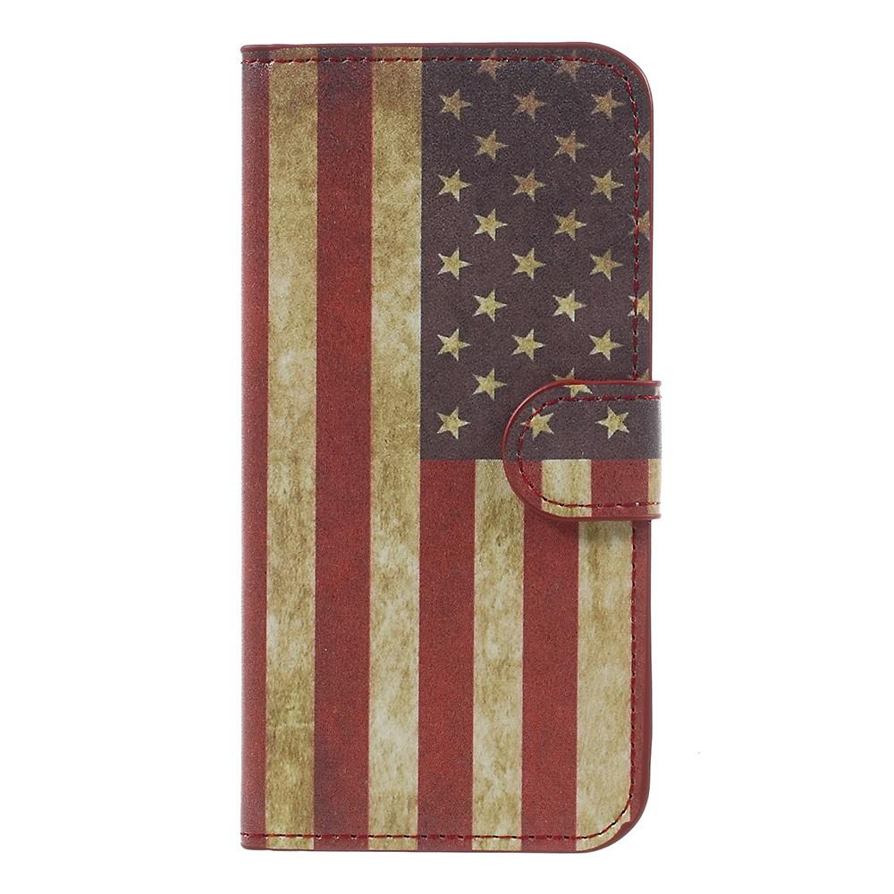 Billede af Samsung Galaxy J5 (2017) PU læder Flipcover M. Kortholder - US Flag