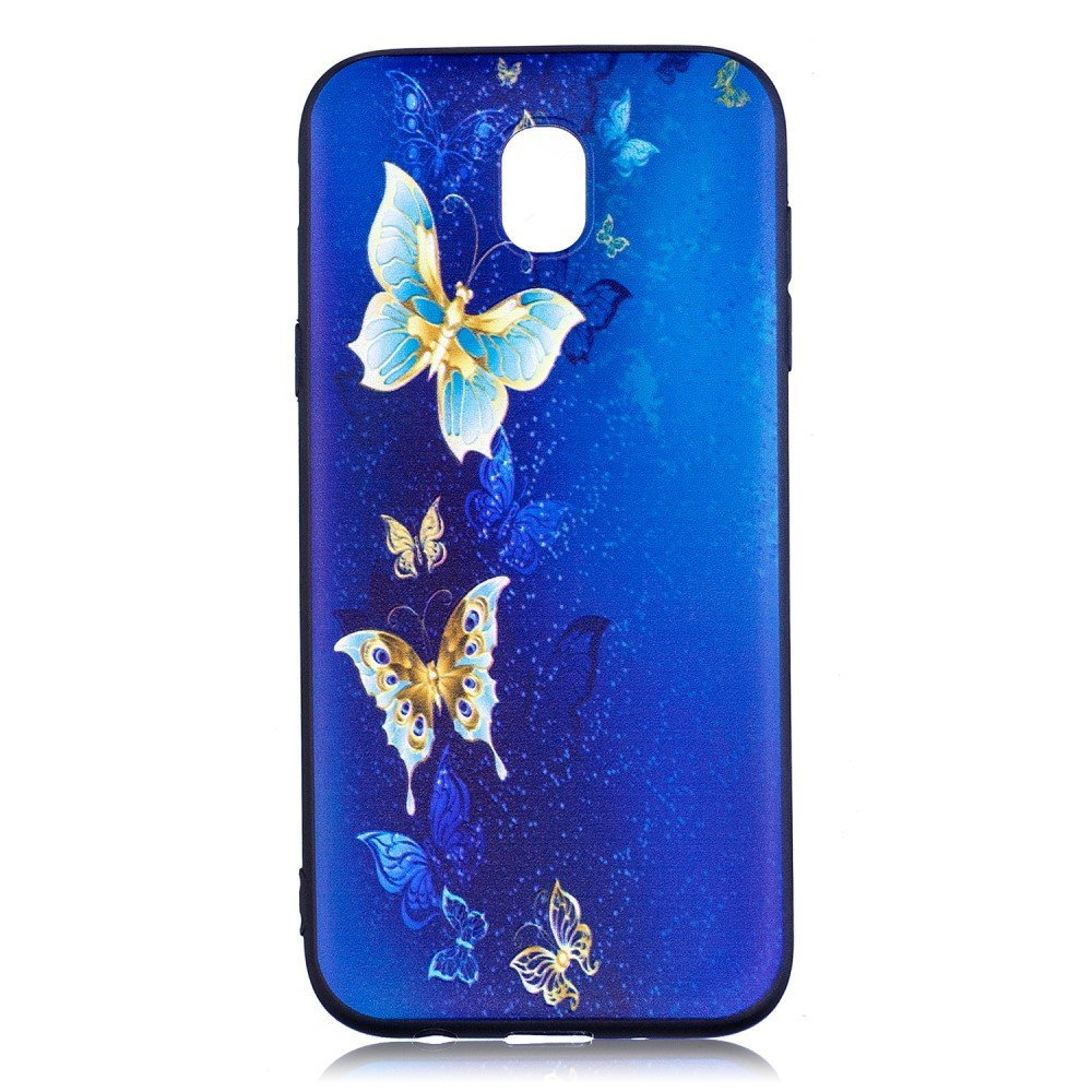Billede af Samsung Galaxy J5 (2017) inCover TPU Cover - Blue and Gold Butterflies