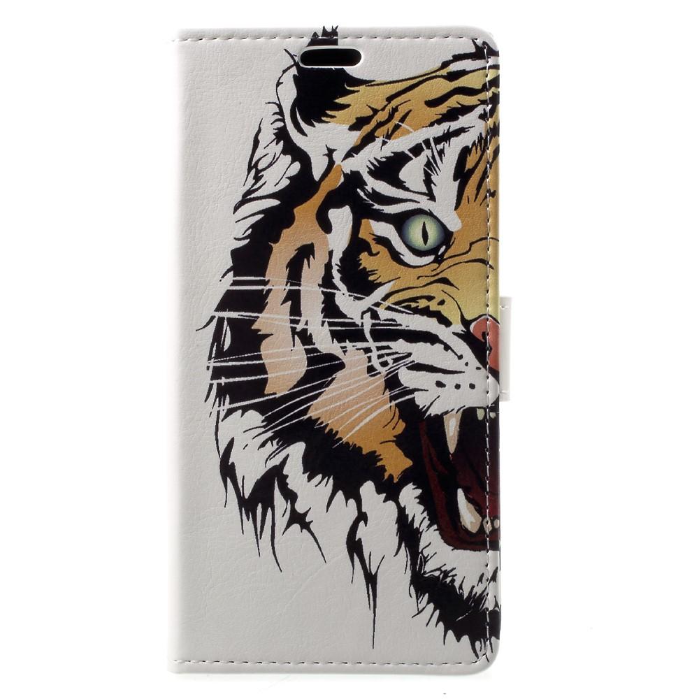 Billede af Sony Xperia XZ1 PU læder Flipcover m. Kortholder - Tiger