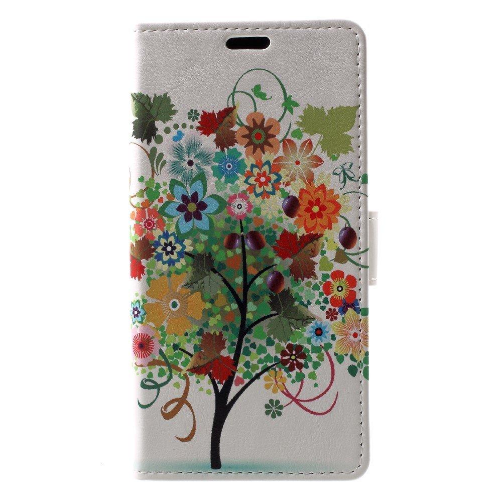 Billede af Sony Xperia XZ1 PU læder Flipcover m. Kortholder - Floral Tree