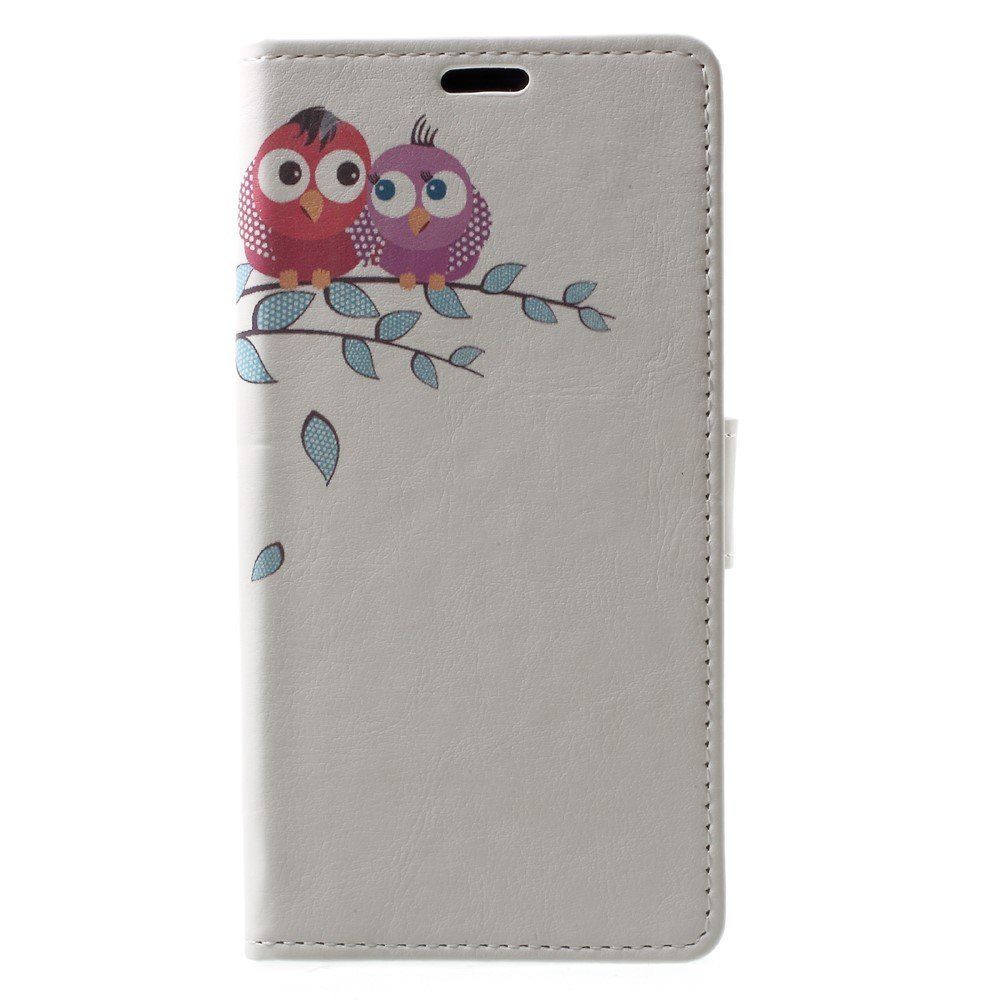 Billede af Sony Xperia XZ1 PU læder Flipcover m. Kortholder - Owls