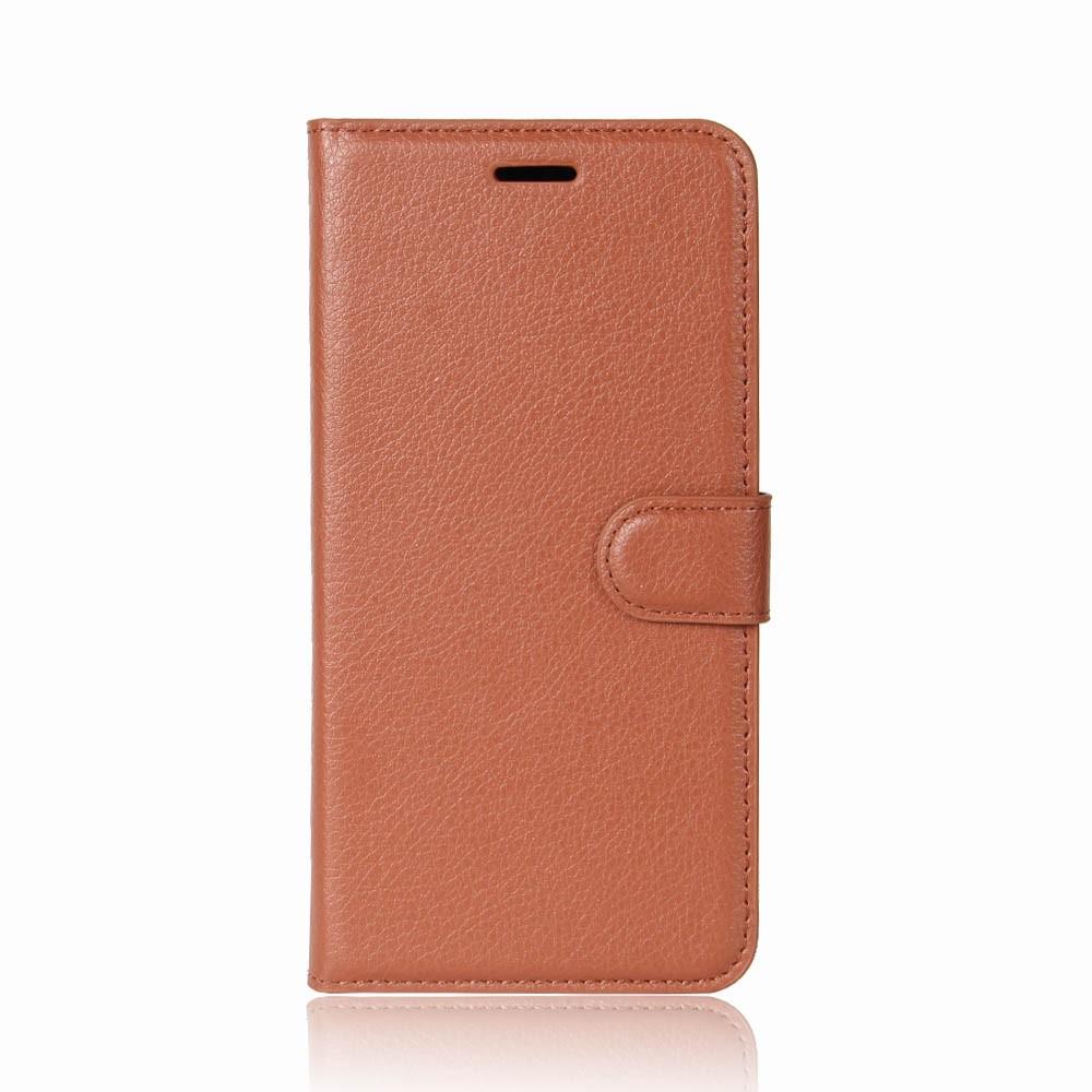 Billede af Sony Xperia XZ1 Compact Litchi Flipcover m. Kortholder - Brun
