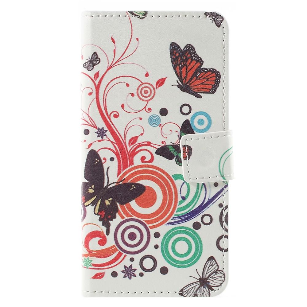 Billede af Sony Xperia XZ1 Compact PU læder Flipcover m. Kortholder - Butterfly Flower