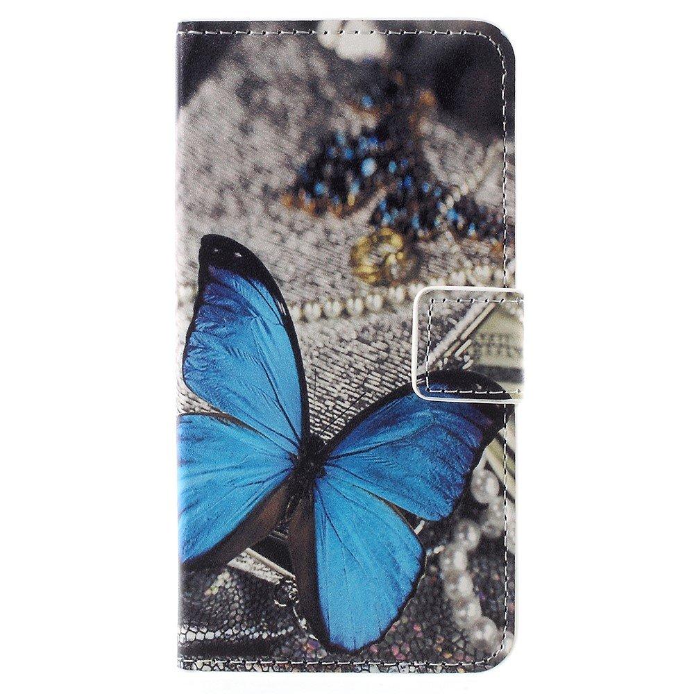 Billede af Sony Xperia XZ1 Compact PU læder Flipcover m. Kortholder - Blue Butterfly