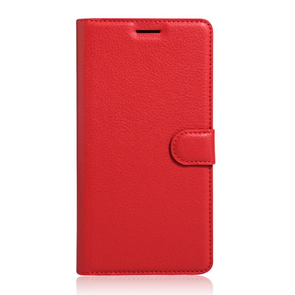 Billede af Sony Xperia XA Ultra Læder Cover m. Kortholder & Stand - Rød