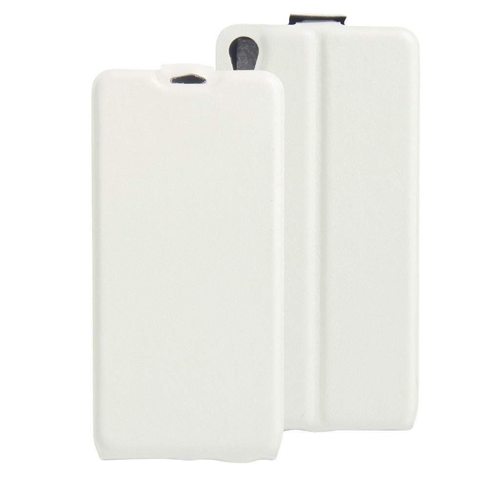 Billede af Sony Xperia E5 Vertikal FlipCover i PU læder - Hvid