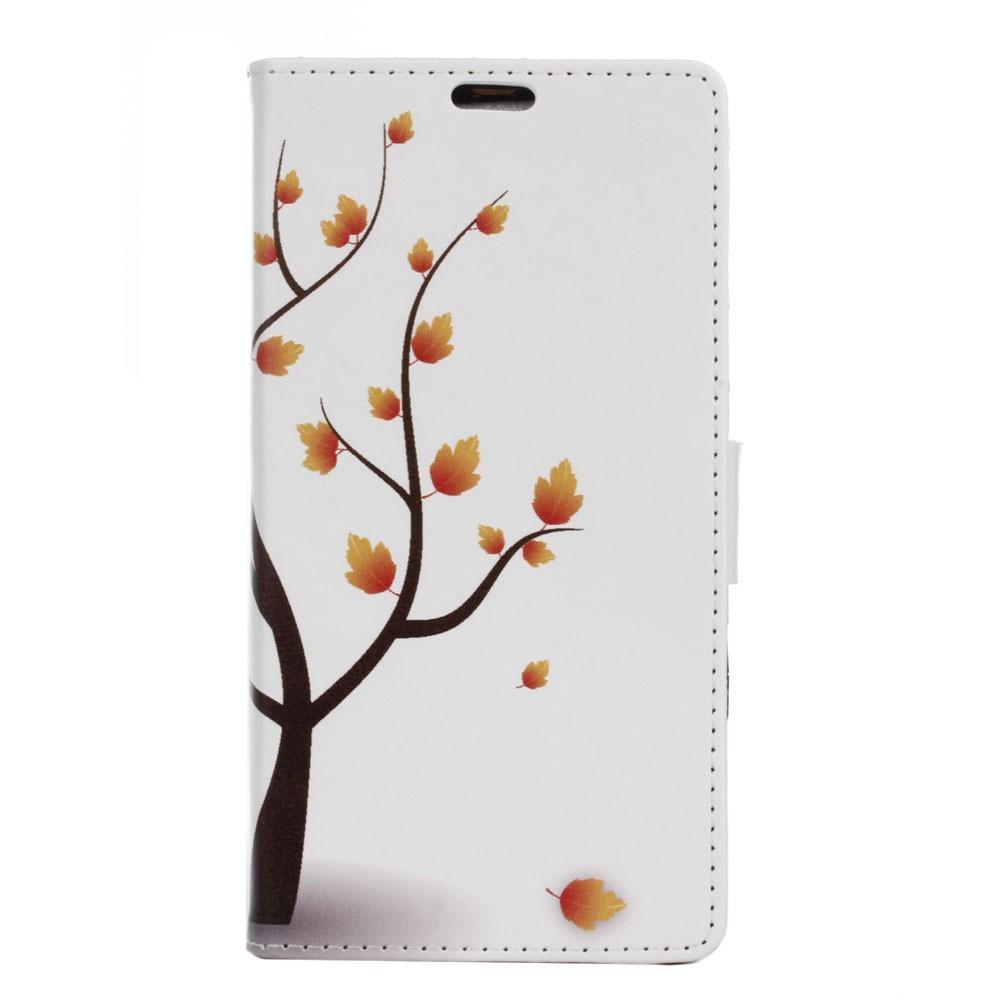 Billede af Sony Xperia XZ PU læder FlipCover m. Kortholder - Autumn Maple Tree