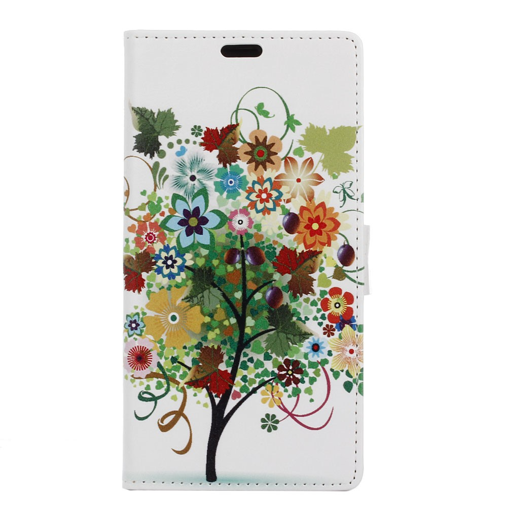Billede af Sony Xperia XZ PU læder FlipCover m. Kortholder - Colorized Tree