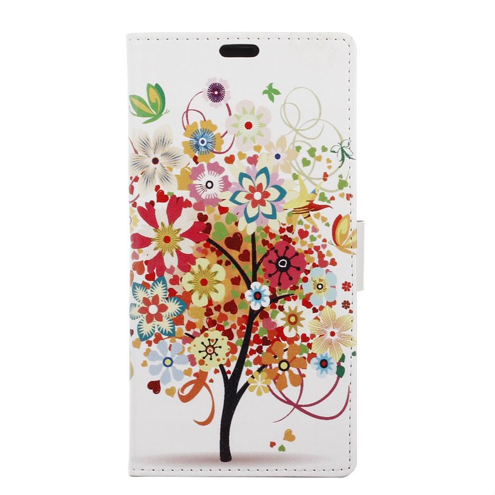 Billede af Sony Xperia XZ PU læder FlipCover m. Kortholder - Flowered Tree