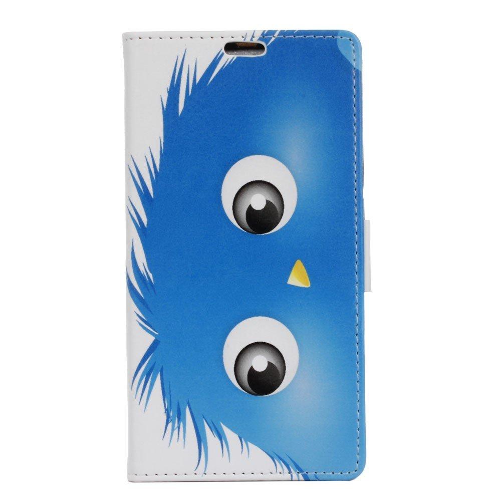 Billede af Sony Xperia XZ PU læder FlipCover m. Kortholder - Blue Hairy Doll
