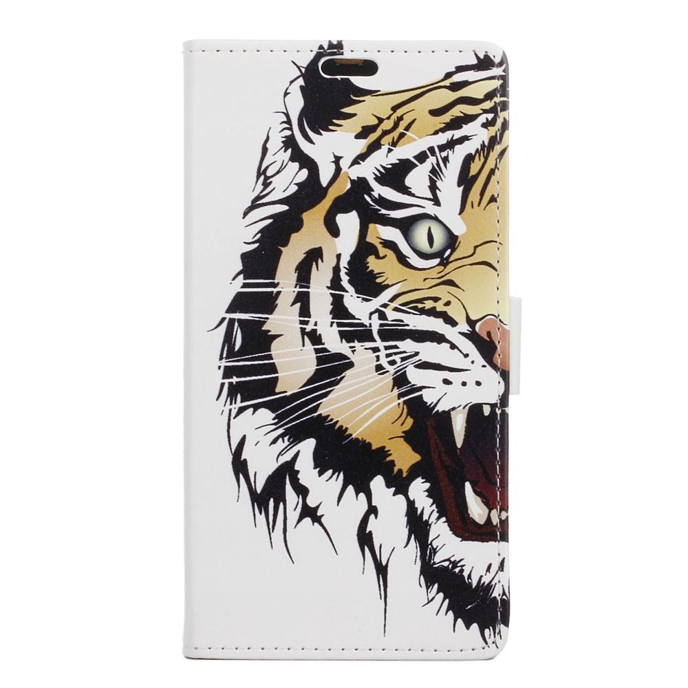 Billede af Sony Xperia XZ PU læder FlipCover m. Kortholder - Fierce Tiger