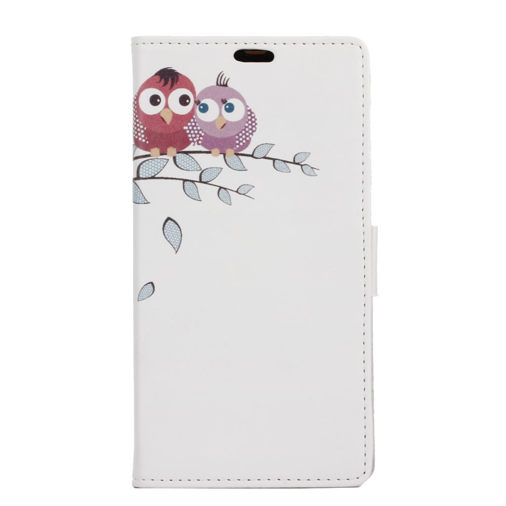 Billede af Sony Xperia XZ PU læder FlipCover m. Kortholder - Two Owls