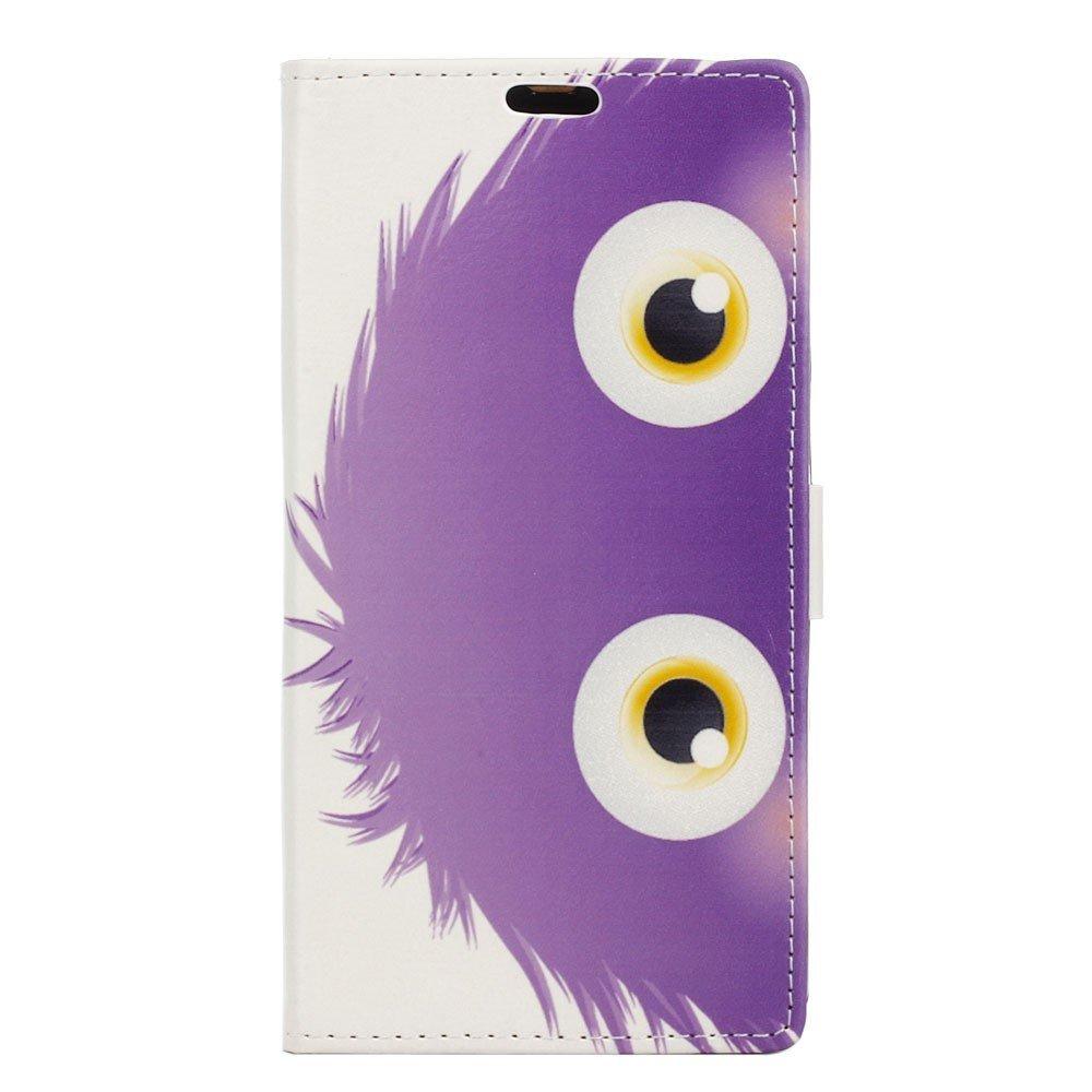 Billede af Sony Xperia XZ PU læder FlipCover m. Kortholder - Purple Hairy Doll