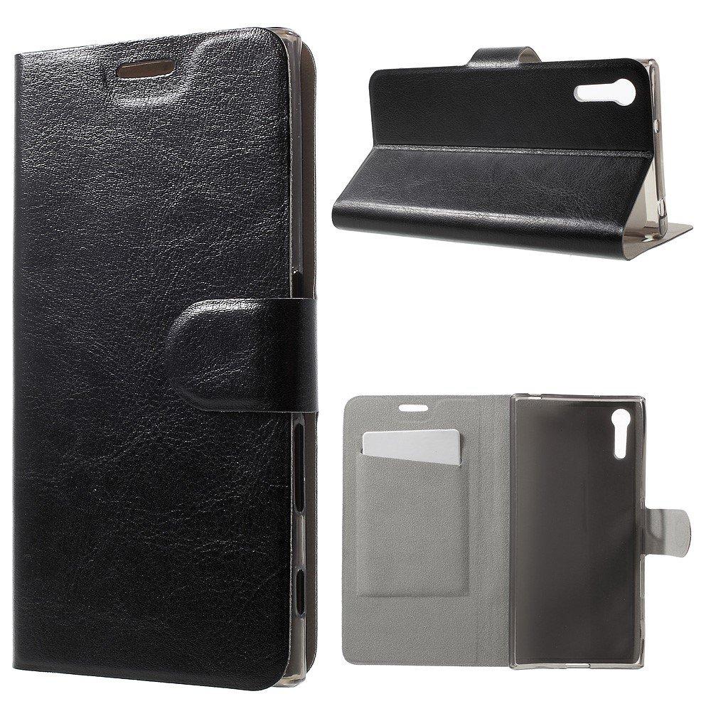 Billede af Sony Xperia XZ PU læder FlipCover m. Kortholder - Sort