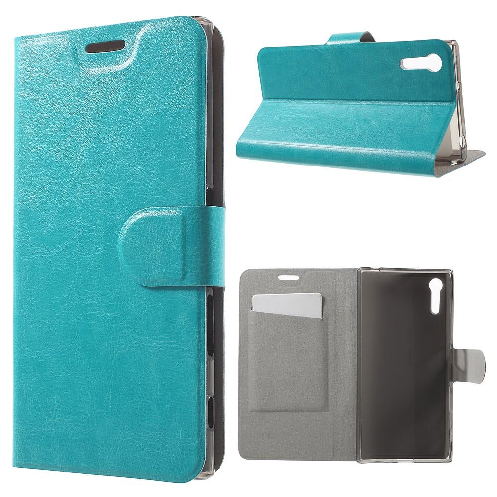 Billede af Sony Xperia XZ PU læder FlipCover m. Kortholder - Blå