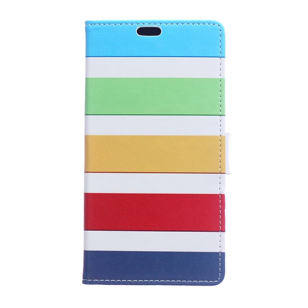 Billede af Sony Xperia XZ Premium PU læder Flipcover m. Kortholder - Colorful Stripes