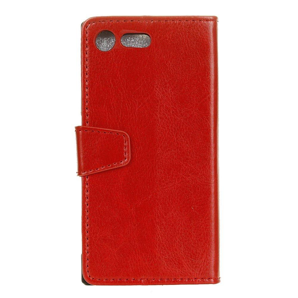 Billede af Sony Xperia XZ Premium PU læder Flipcover m. Kortholder - Rød
