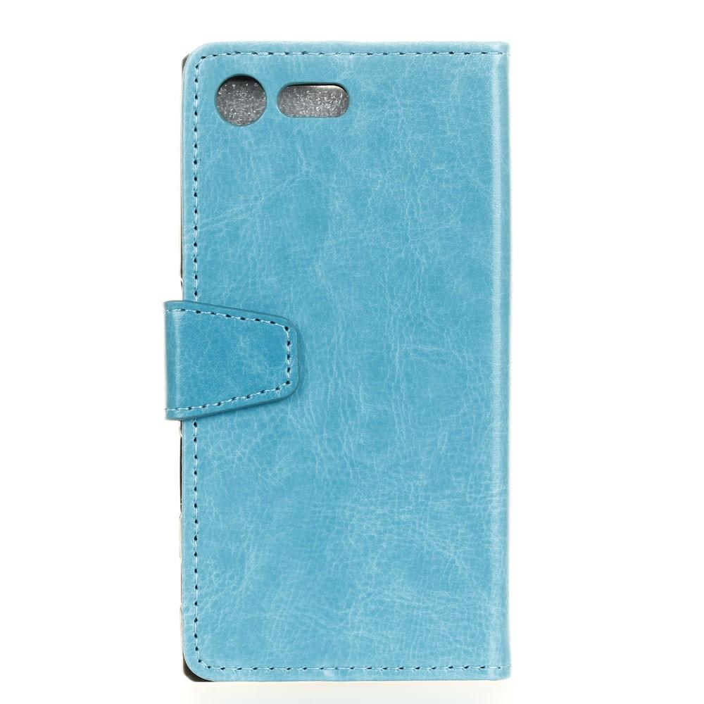 Billede af Sony Xperia XZ Premium PU læder Flipcover m. Kortholder - Blå