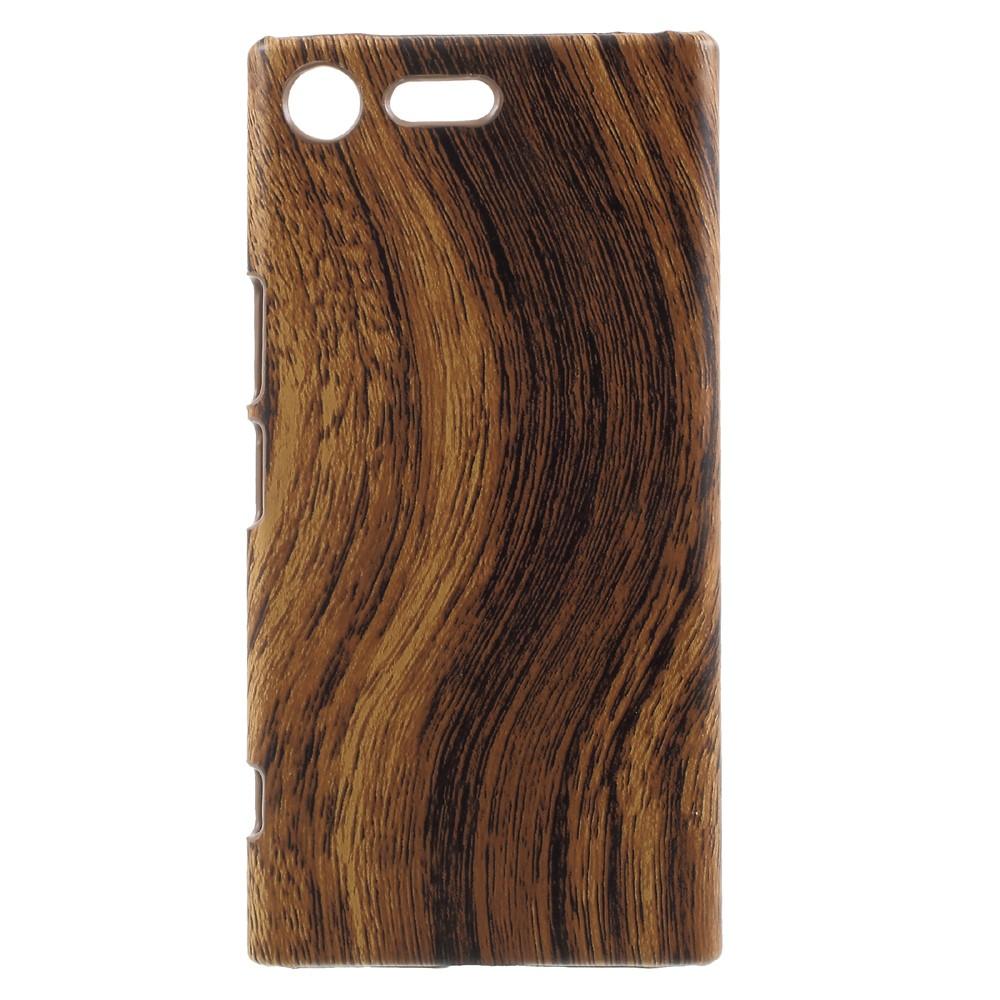 Billede af Sony Xperia XZ Premium Læderbeklædt Plastik Cover - Træ
