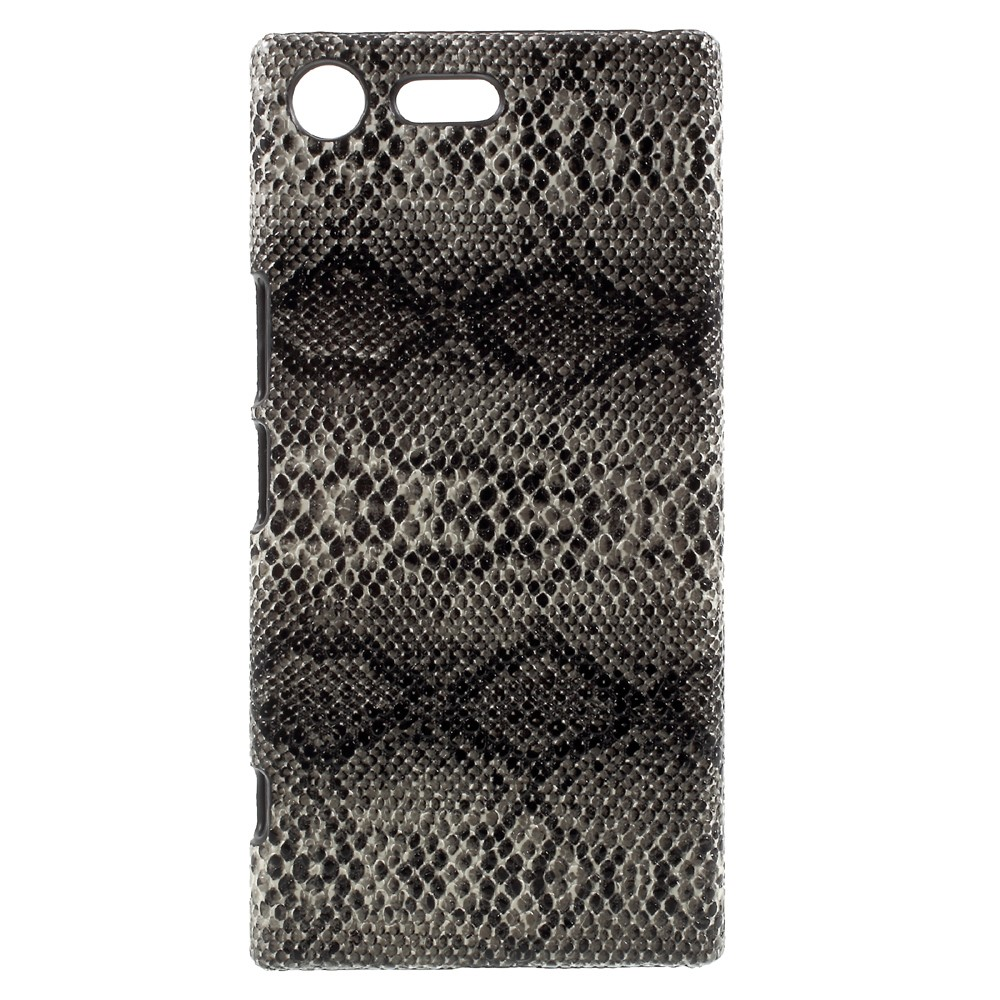 Billede af Sony Xperia XZ Premium Læderbeklædt Plastik Cover - Mørk Slange