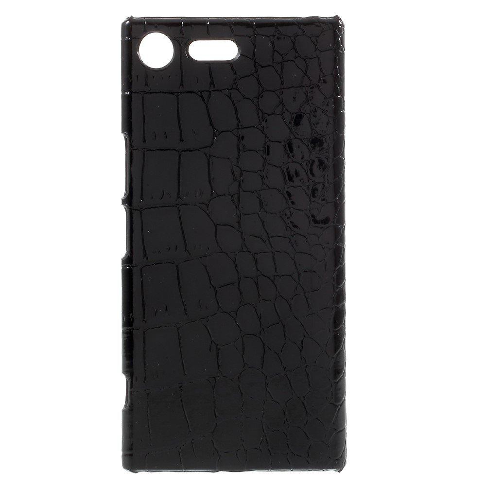 Billede af Sony Xperia XZ Premium Læderbeklædt Plastik Cover - Sort Krokodille