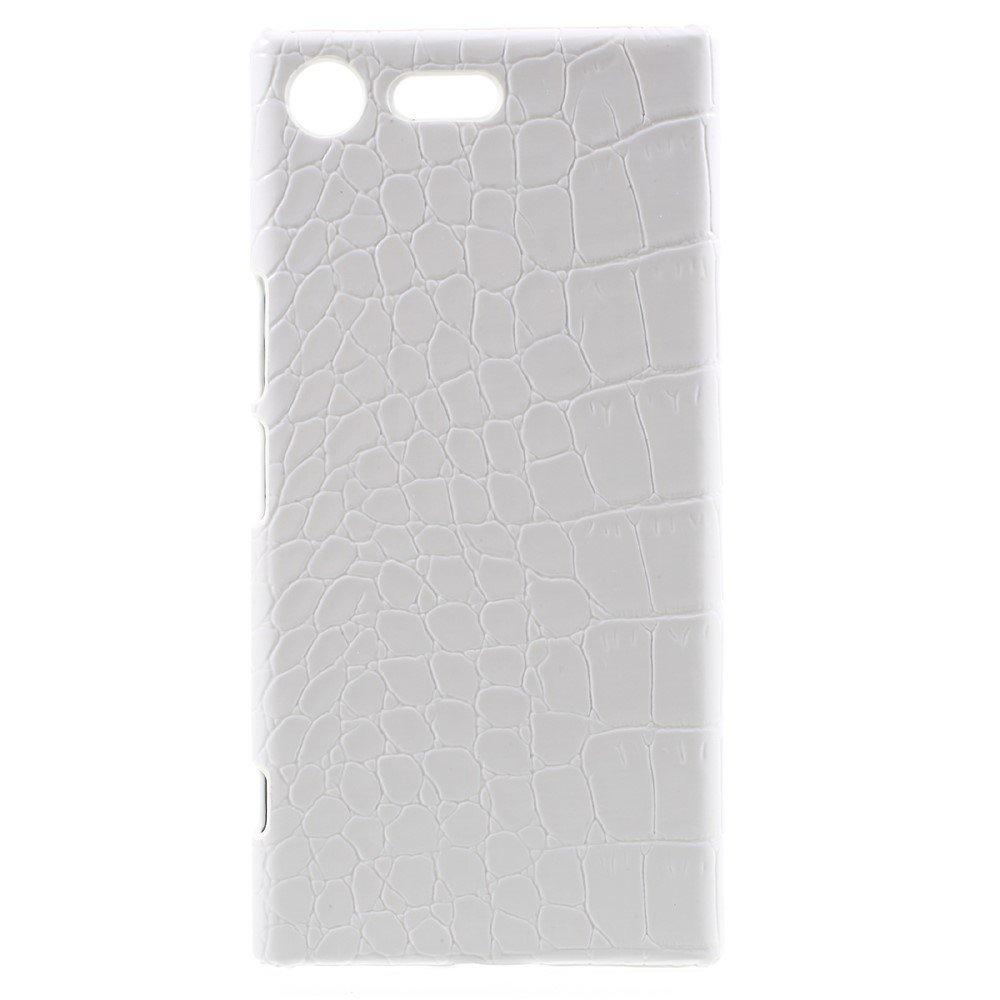 Billede af Sony Xperia XZ Premium Læderbeklædt Plastik Cover - Hvid Krokodille