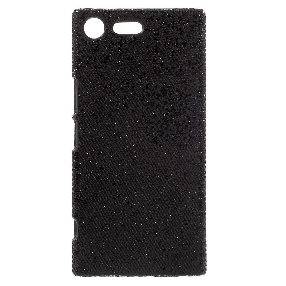 Billede af Sony Xperia XZ Premium Læderbeklædt Plastik Cover - Sort Glimmer