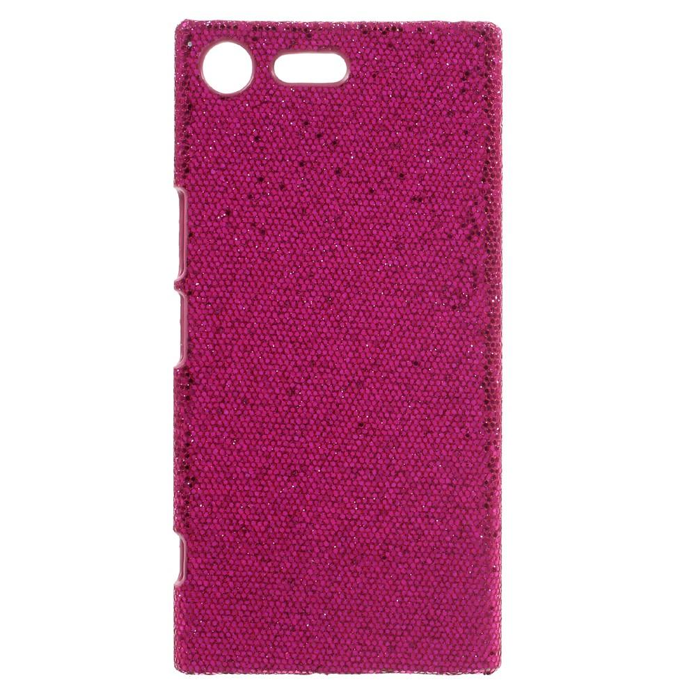 Billede af Sony Xperia XZ Premium Læderbeklædt Plastik Cover - Pink Glimmer
