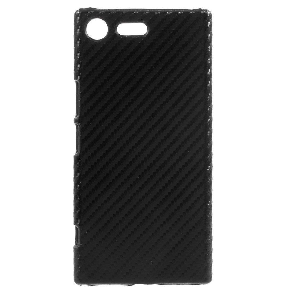 Billede af Sony Xperia XZ Premium Læderbeklædt Plastik Cover - Sort Carbon