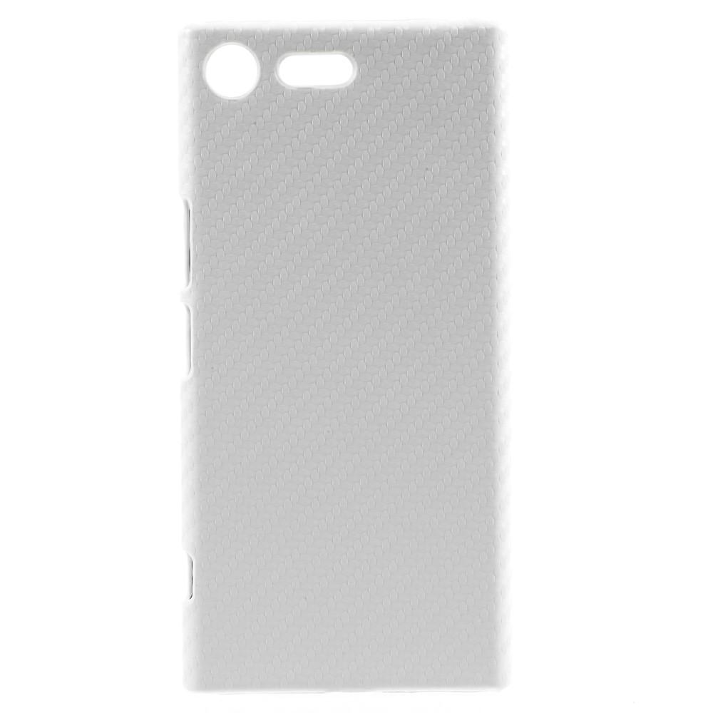 Billede af Sony Xperia XZ Premium Læderbeklædt Plastik Cover - Hvid Carbon