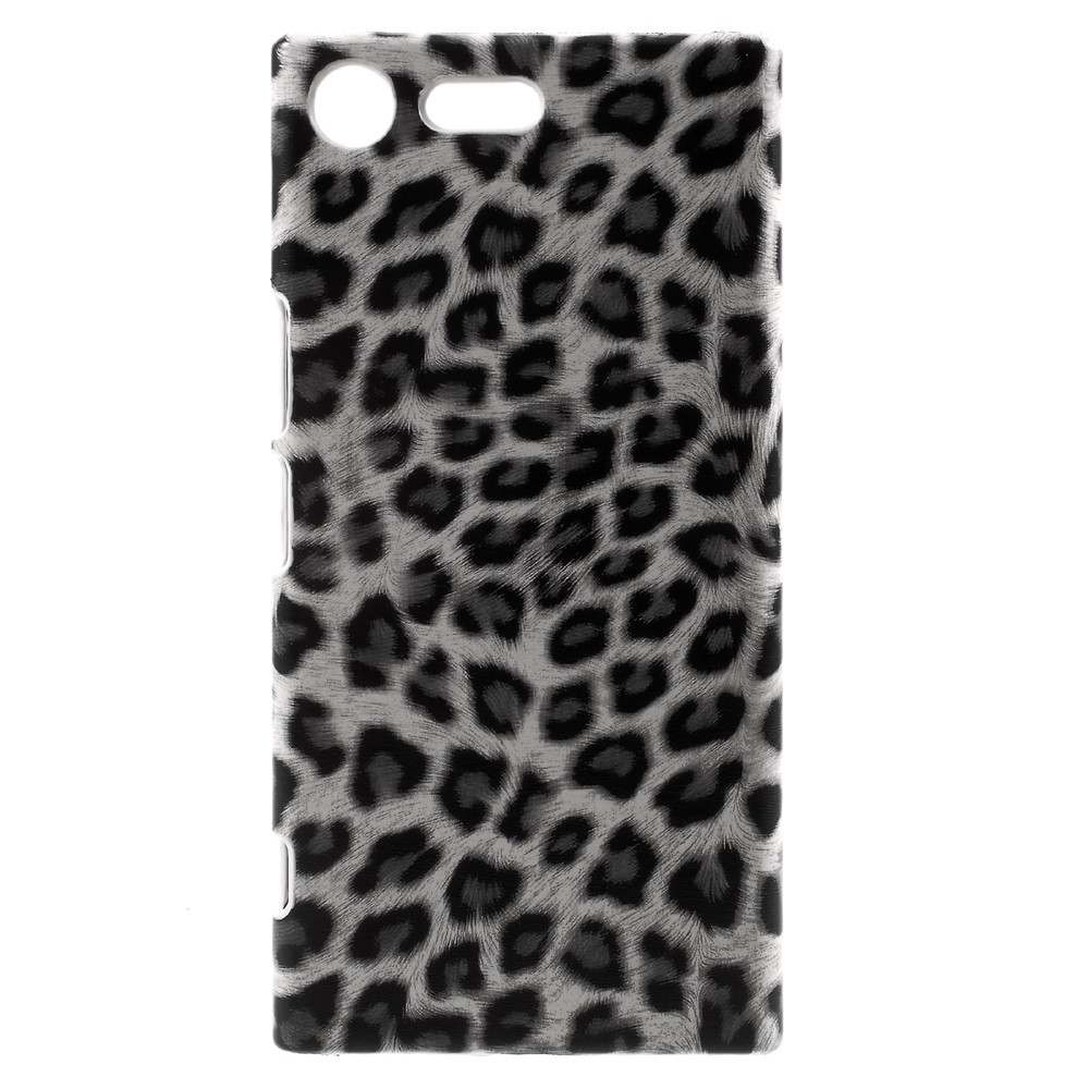 Billede af Sony Xperia XZ Premium Læderbeklædt Plastik Cover - Leopard