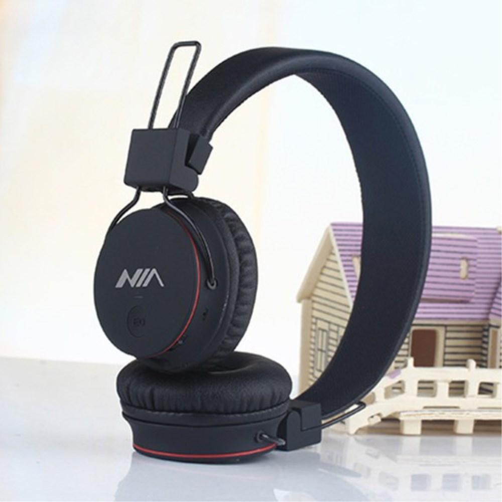 Billede af NIA Trådløst Bluetooth On-Ear Headset/Høretelefoner - Sort