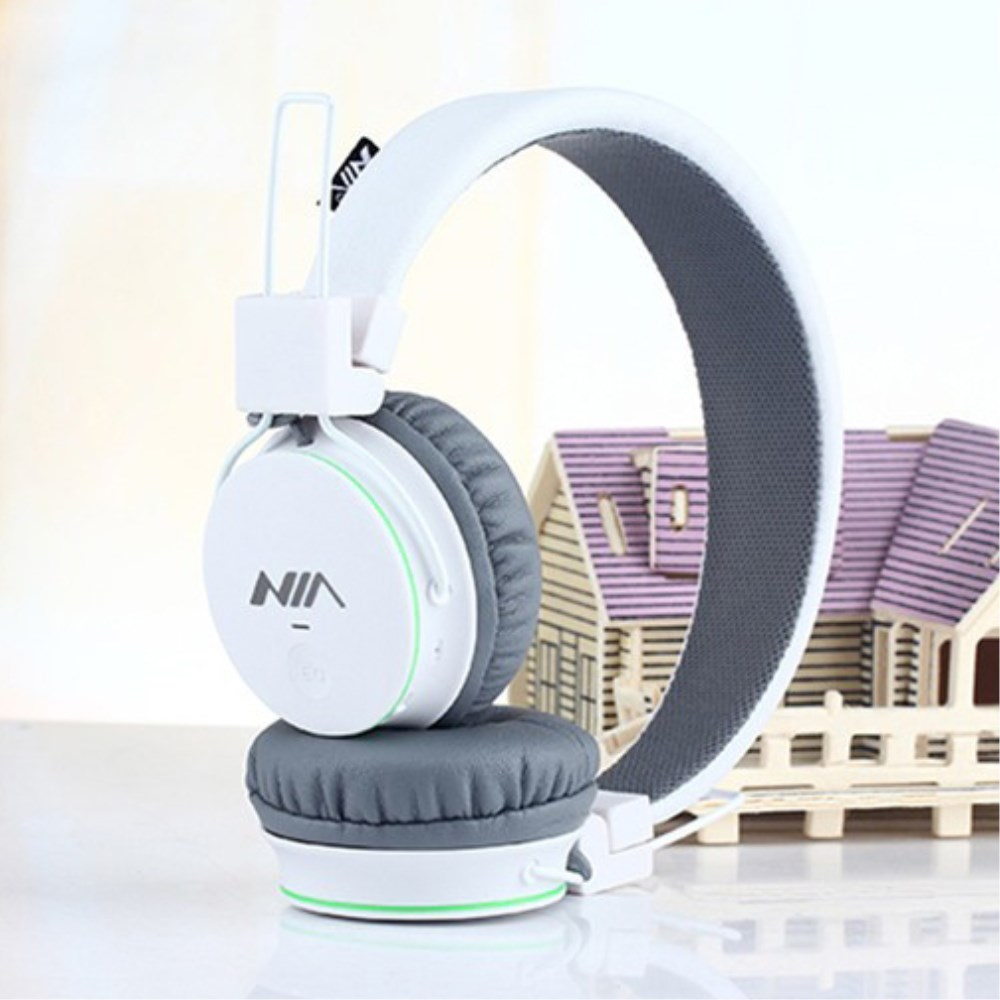 Billede af NIA Trådløst Bluetooth On-Ear Headset/Høretelefoner - Hvid/Grå