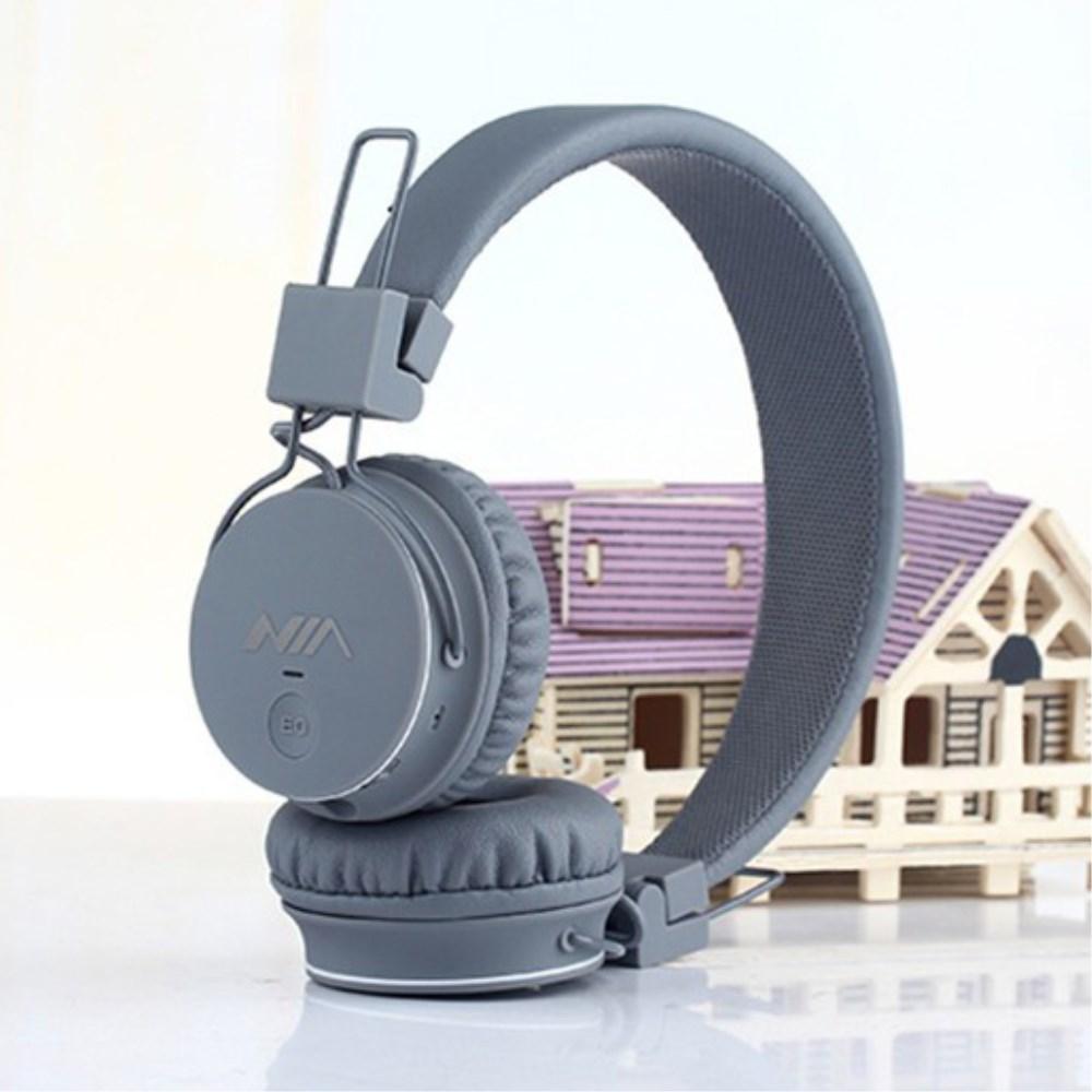 Billede af NIA Trådløst Bluetooth On-Ear Headset/Høretelefoner - Grå