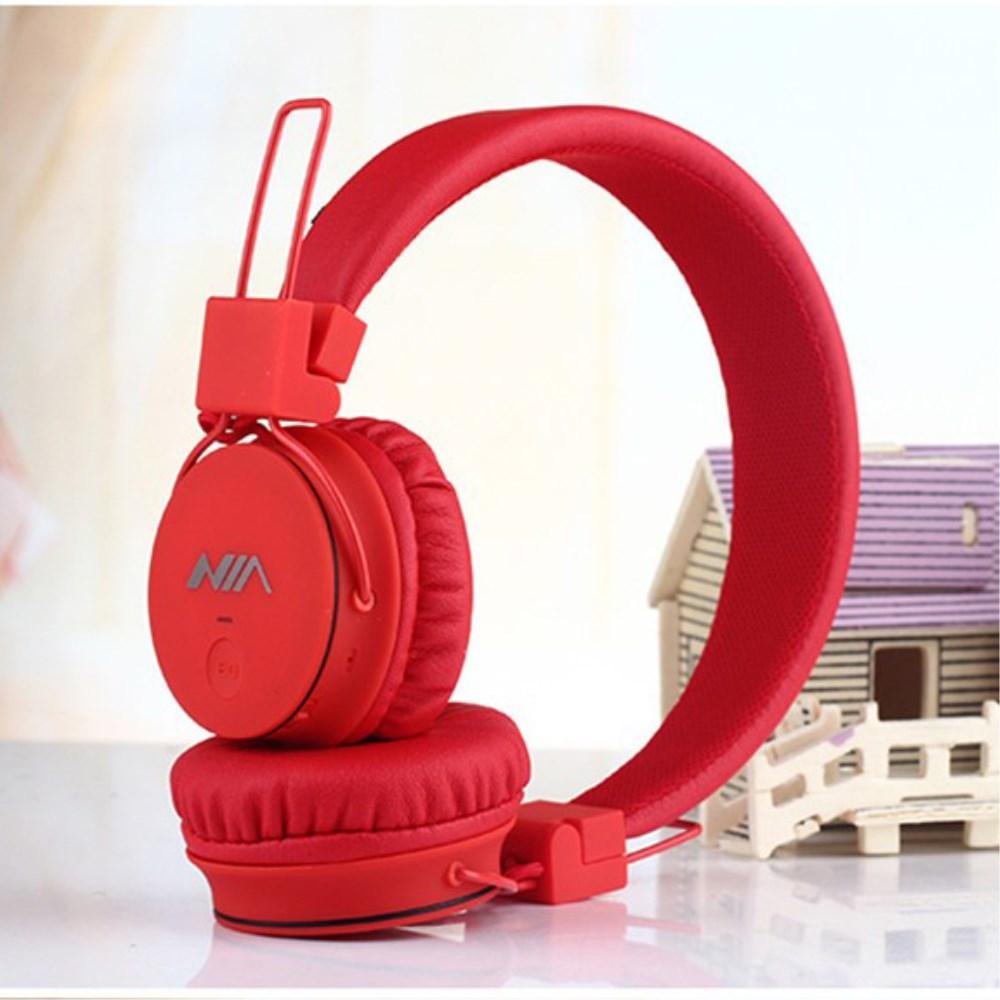 Billede af NIA Trådløst Bluetooth On-Ear Headset/Høretelefoner - Rød
