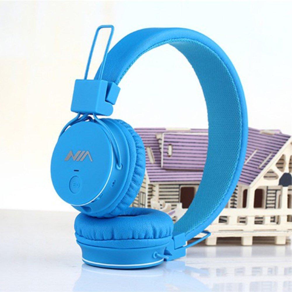 Billede af NIA Trådløst Bluetooth On-Ear Headset/Høretelefoner - Blå