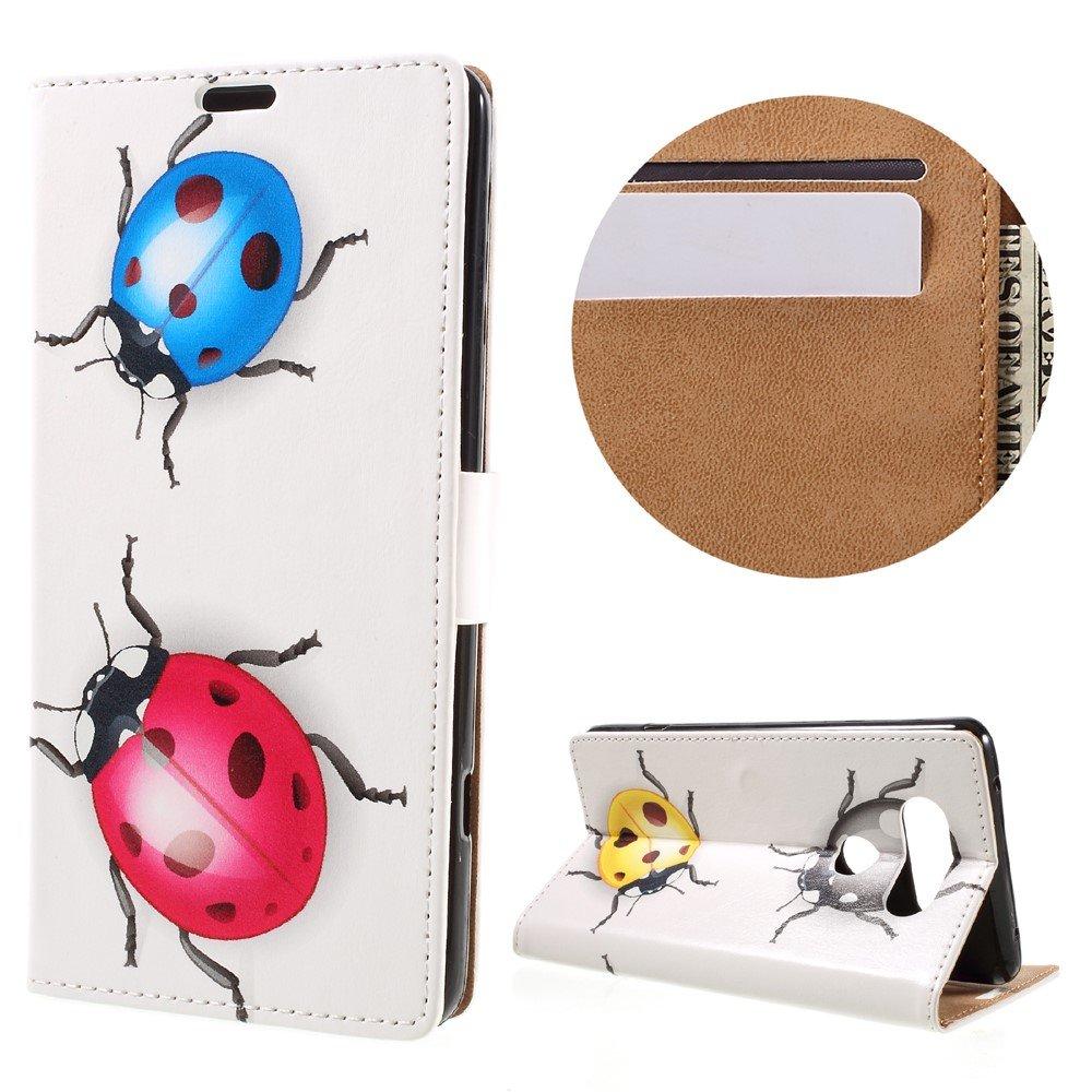 Billede af LG V20 PU læder FlipCover m. Kortholder - Ladybugs