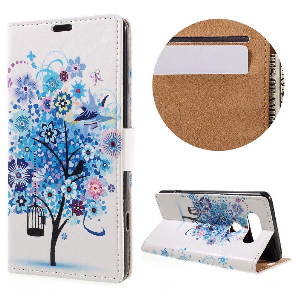 Billede af LG V20 PU læder FlipCover m. Kortholder - Blue Tree