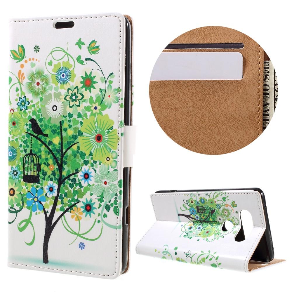 Billede af LG V20 PU læder FlipCover m. Kortholder - Green Tree