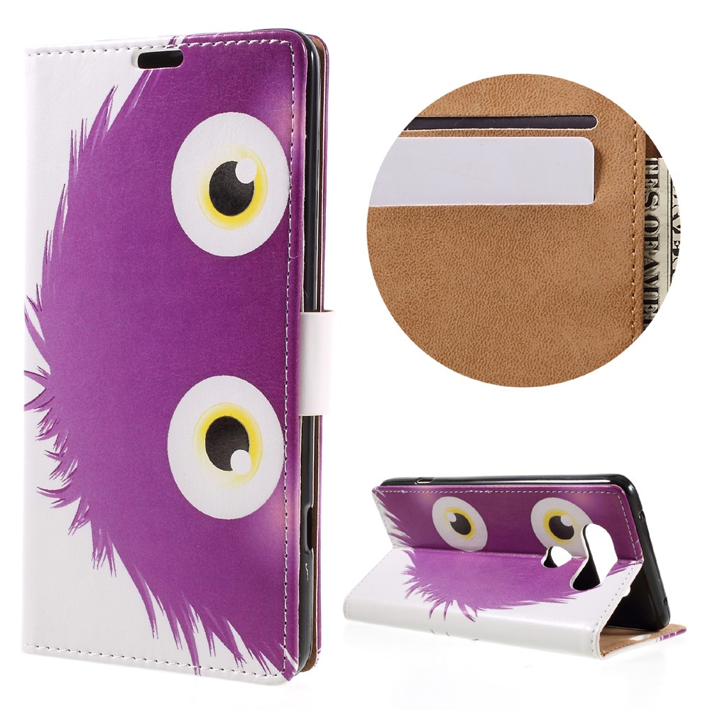 Billede af LG V20 PU læder FlipCover m. Kortholder - Purple Animal