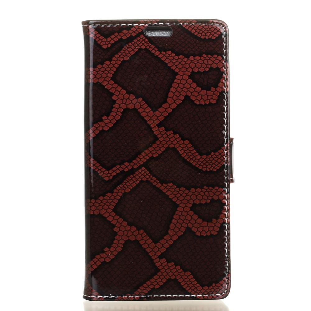 Billede af LG V20 PU læder FlipCover m. Slangelook - Rød
