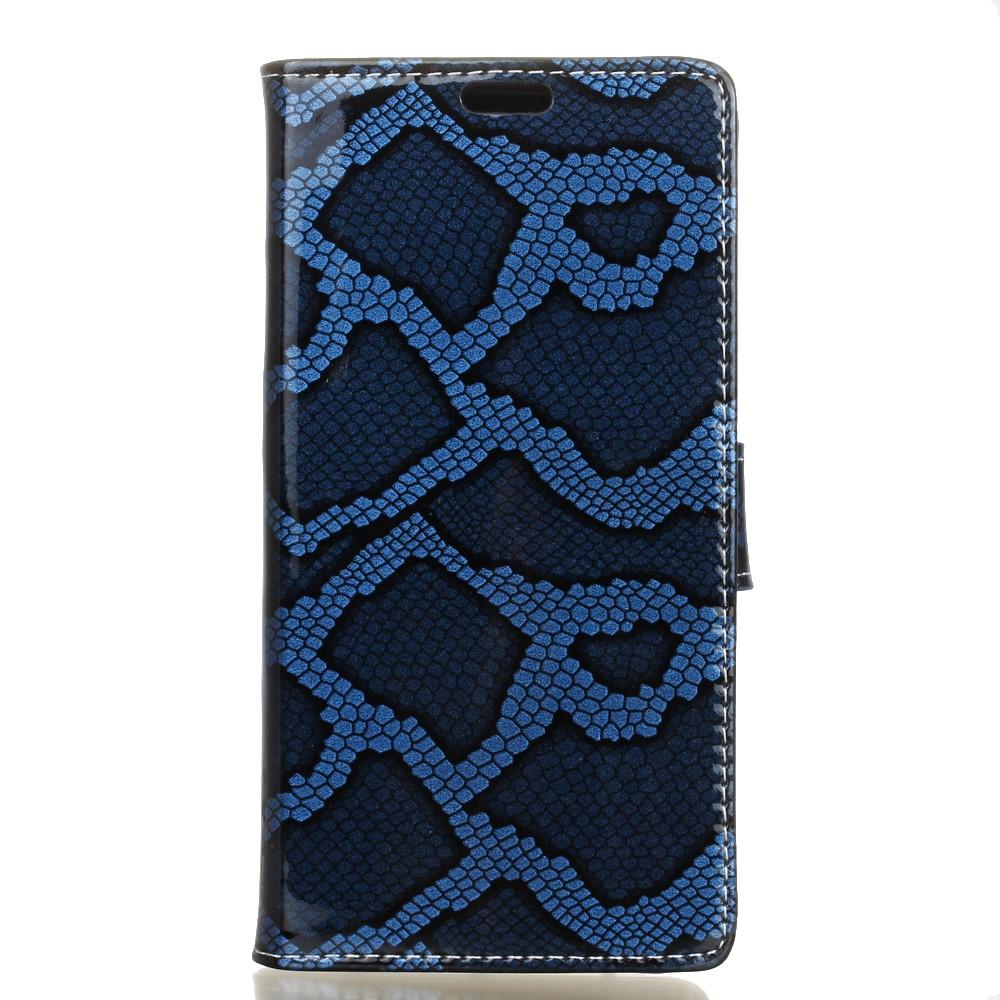 Billede af LG V20 PU læder FlipCover m. Slangelook - Blå
